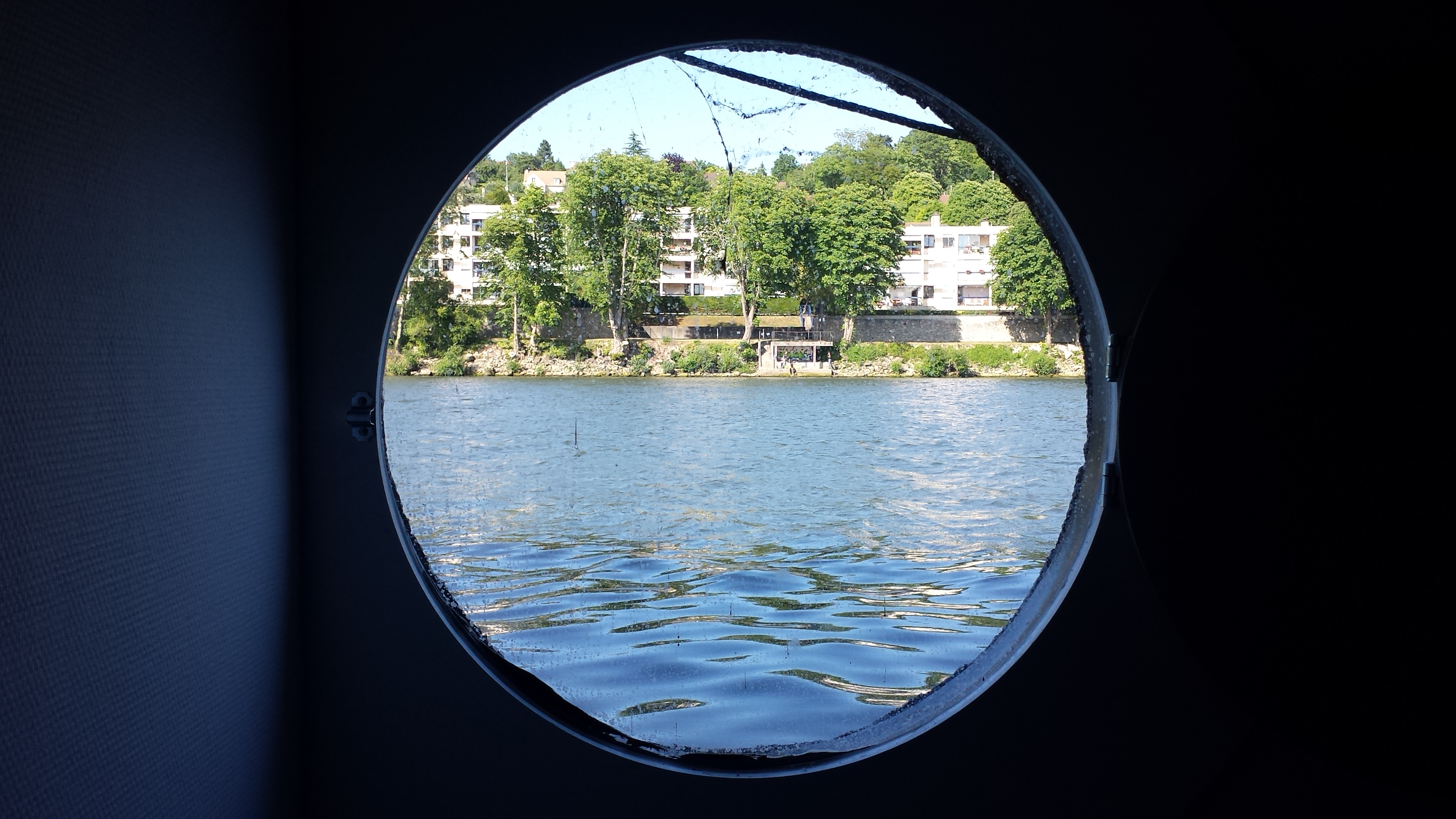 the porthole right by my bed