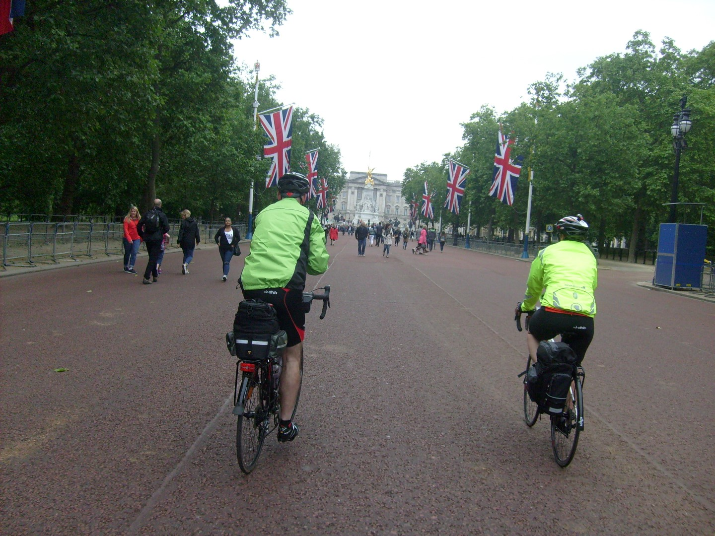 Cycling down The Mall